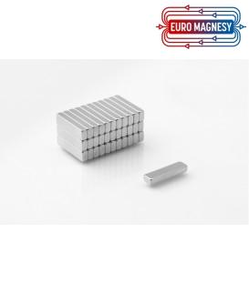 Neodymium block magnet 25x6x2 thick N38