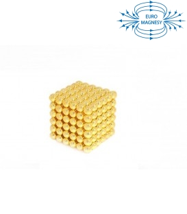 Neocube sphere magnet Ø 5 mm gold