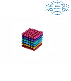 Neocube sphere magnet Ø 5 mm rainbow