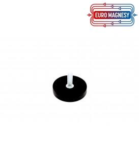 31 mm gummierter topfmagnet mit gewindezapfen