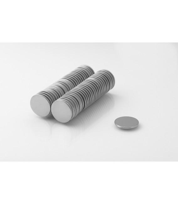 Neodymium disc magnet 15x1 thick N38