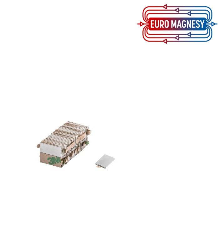 Neodymium block magnet 15x5x1 with 3M tape