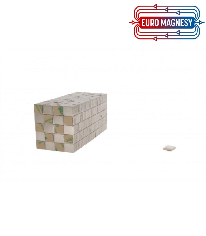 Neodymium block magnet 10x10x1 with 3M tape