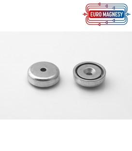 Pot magnet 25x11/6x7 mm countersunk hole