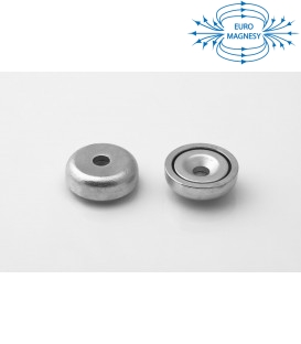 Pot magnet 20x8-3,1x4,5 mm countersunk hole
