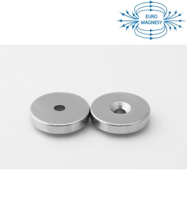 Ring magnet 30x(8,5x4,5)x5 with countersunk borehole N38
