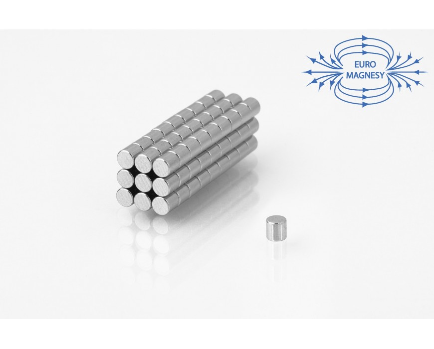 NdFeB (Neodymium)  cylinders magnets, small  (Ø 2 mm - Ø 10 mm)