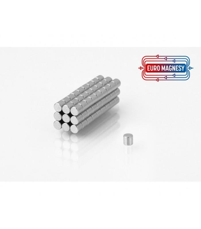 NdFeB (Neodymium)  cylinders magnets, small  (Ø 2 mm - Ø 10 mm)