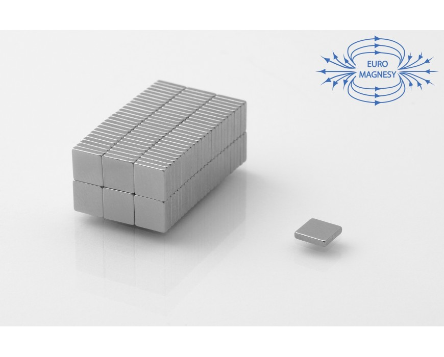 NdFeB (Neodymium)  block magnets, small  ( 5 mm - 10 mm)