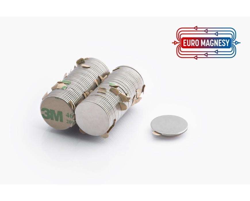 Neodym (NdFeB) Magnete Zylinderform mit 3M Klebeband