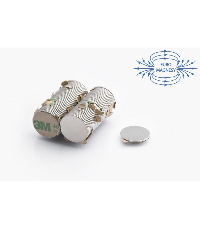 Neodymium disc magnets  with 3M tape
