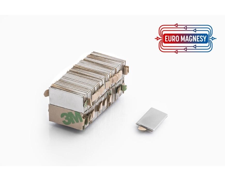Neodymium block magnet self-adhesive