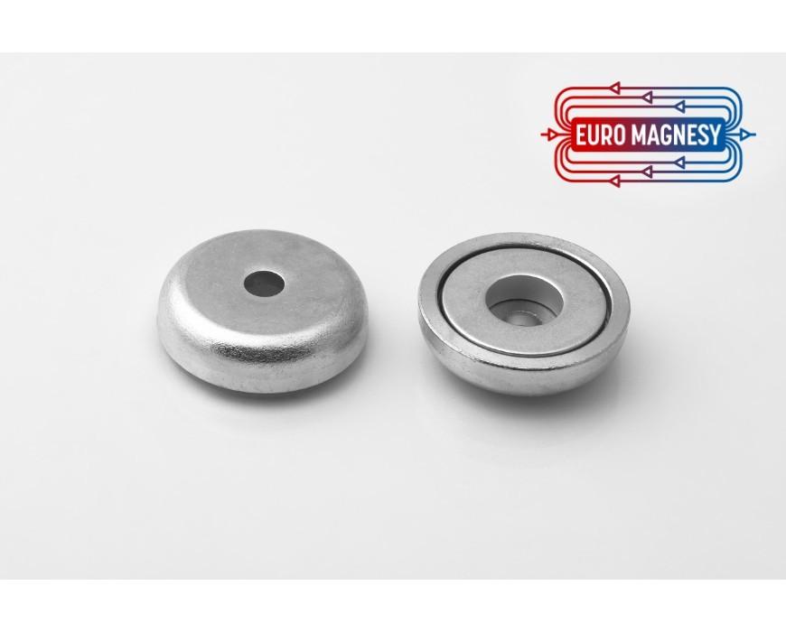Topfmagnete mit zylindrischer Bohrung zum Anschrauben