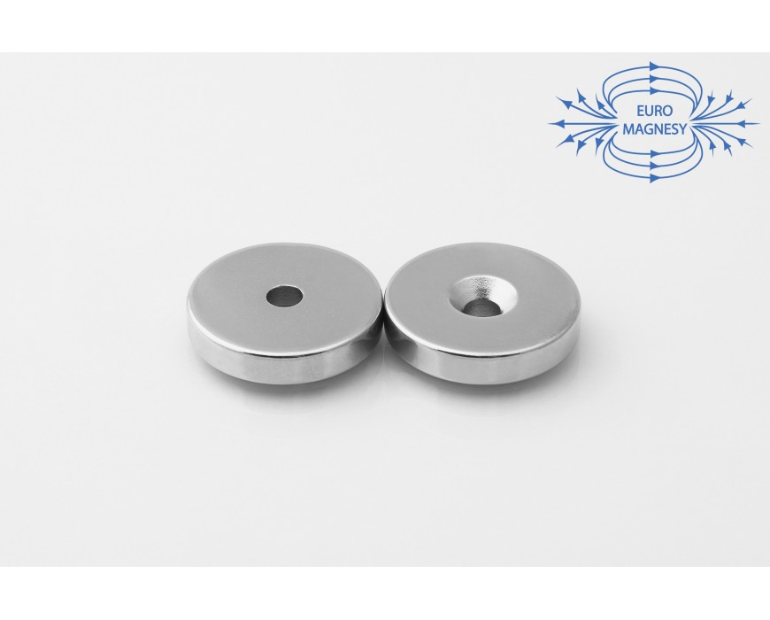 Neodymium ring magnets with counterbore