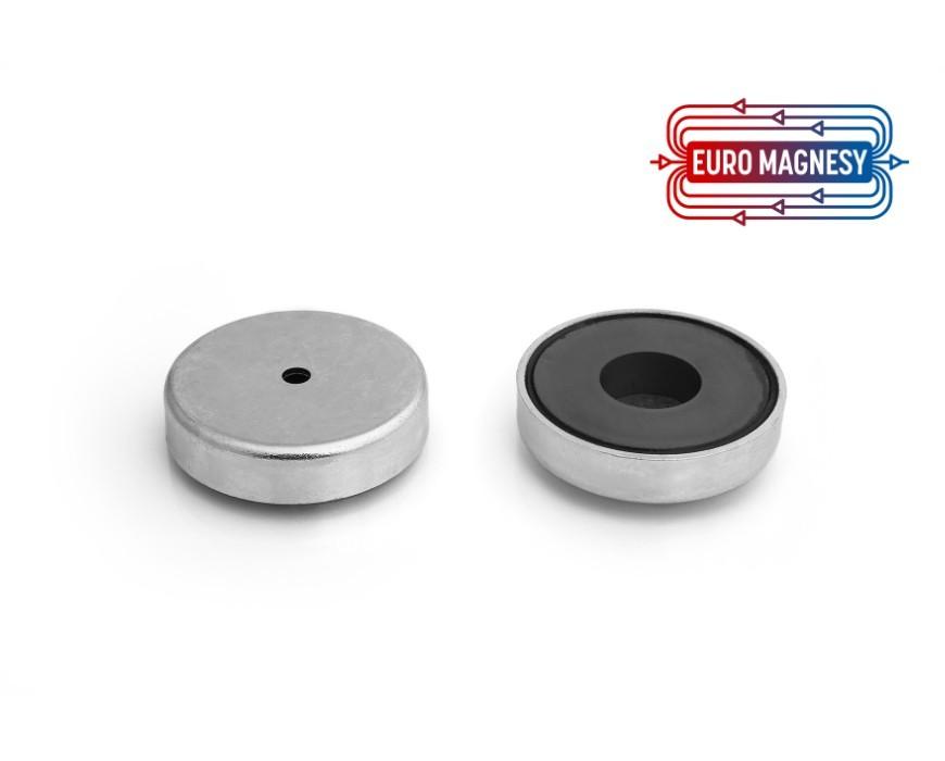 Uchwyty magnetyczne z otworem pod cylindryczny łeb śruby