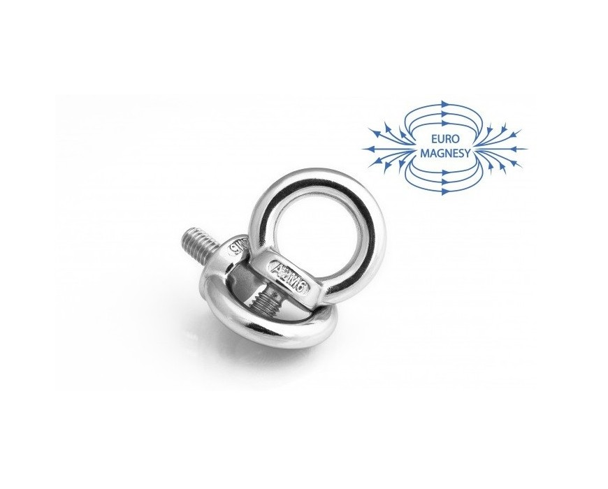 Threaded eyelet bolt