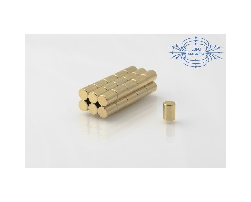 Neodymium disc magnet gold plated